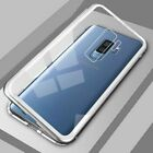 Magnetic Absorption Metal Bumper Glass Case Cover for Samsung Galaxy S9 S8 Plus <br/> Free Screen Protector &amp; 1st Class Mail &amp; High Qulity