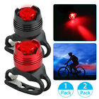 1/2 x Bike Bicycle Red LED Rear Light 3 modes Waterproof Tail Lamp Visible 200m
