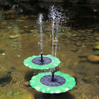 Solar Fountain Water Pump Floating Panel Pool Garden Plants Pond Watering