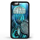 Jellyfish pattern jellies sea creature turtle shell art graphic phone case cover