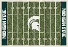 Michigan State Spartans NCAA Home Field Indoor Area Rug