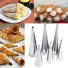 2Pcs Stainless Steel Spiral Baked Form Croissants Horn Bread Form USA Stock 8SJ