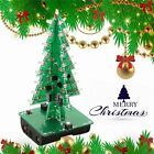 DIY 3D Christmas Tree LED Kit Red Green Yellow LED Flash Circuit Parts KZ