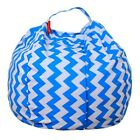Kids Soft Cotton Bean Bags Stuffed Animal Toy Storage Pouch Stripe Fabric Chairs cheap