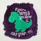 Kissing Blake Day If You're Happy .. TRex Tyranasaurous Rex Hand made Diaper