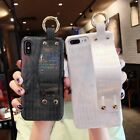 NEW Shiny laser Wristband TPU Phone Case For iPhone 7 7Plus 6 6S Plus 8 8Plus X