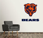 Chicago Bears Wall Decal Logo Football NFL Art Sticker Vinyl LARGE SR88 $17.95 USD on eBay