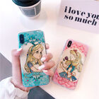 Cute Cartoon Alice Princess Gilr Bling soft case cover For iphone X 8 7 6S plus