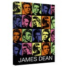 James Dean Many Faces COLOR BLOCK Framed Canvas Wall Art