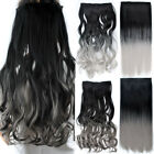26' Dyed Two Tone Cosplay Long Full Head One Piece Only Clip In Hair Extensions