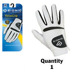1 x Bionic Mens RelaxGrip Golf Glove- Right Hand-Cool/Dry/Leather Palm $24.95 ea