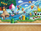 Super Mario Wallpaper Bespoke Backdrop Printed Wall Mural Feature Large Decal