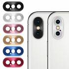 Rear Back Camera Metal Lens Protective Ring Cover Protector For  iPhone X