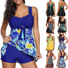 New Women Tankini Swimdress Swimsuit Beachwear Push Up Swimwear Plus Size Bikini