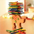Wooden Puzzle Stacking Building Blocks Balance Board Table Game Elephant Toy D
