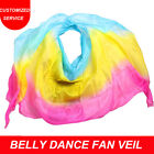 Women 100 Real Silk Belly Dance Veil Hand Made Shawl Scarf