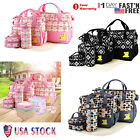 5-pcs-Set Baby Strong Nappy Bag Mummy Mother Handbag Bottle Bag Diaper Mat US