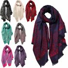 New Chinese Style Little Flowers Printed Ladies Winter Scarf Shawl Hijab