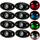8x CREE 9W LED Rock Light Bar JEEP Boat OffRoad Truck Trail Fender Fog Side Lamp