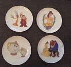 "Set Of Four 6"" Beauty And The Best Plates-Disney Germany Rare!"