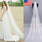 White Lvory 1T 2M Wedding Bridal Long Veil Church Cathedral Length With Comb Hot