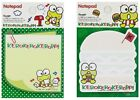 SANRIO KEROKEROKEROPPI 50 SHEETS DIE CUT NOTEPAD/CUTE NOTEPAD/SMALL NOTE (2018)