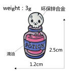 Funny Purple Magic Book Brooch Pin Badge Potion Cat Skull Candle Crystal Witch