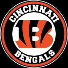 Cincinnati Bengals Circle Logo Vinyl Decal / Sticker 5 sizes!! on eBay