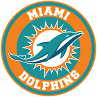 Miami Dolphins  Circle Logo Vinyl Decal / Sticker 5 sizes!! $5.99 USD on eBay
