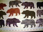 Applique Bears Fusible 100% Cotton Quilting Brown Fabric Box of 8 or 12 5