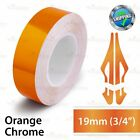 "19mm 3/4"" PinStriping Stripe Tape Car Styling Decal Vinyl Sticker ORANGE CHROME"