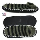 New Mens Cozy Knit House Floor Room Indoor Non Skid Slippers Socks Size 9 12