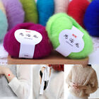 Soft Mohair Cashmere Wool Yarn DIY Hand Woven Sweater Scarf Knitting Multi Color
