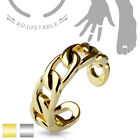 Linked Chain Design Adjustable Mid Ring / Toe Ring