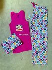 Paul Frank for Target Juniors 3 Piece Julius Pajama Set-Tank, Pants,Laundry Bag
