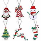Fashion Christmas Jewelry Gifts Santa Claus Snowman Charm Pendant Chain Necklace