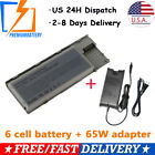 Battery for Dell Latitude D620 D630 D640 PC764 TC030 310-9080 HX345 + Charger