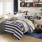 Bedding Sets 4pcs Stripe Cotton Duvet Cover Sheet Pillowcases Full Queen Size image