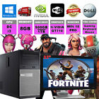 "Fast i3 Dual Core Gaming 22"" Monitor Bundle 8GB 500GB/1TB  Fortnite Computer"