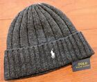 Polo Ralph Lauren Winter Cuffed Wool Ribbed Signature Small Logo Beanie PP0054