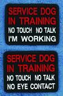 """Service Dog In Training No Touch Talk Patch 3X4"""" Assistance Medical Danny LuAnn"""