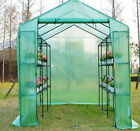 WALK IN GREENHOUSE FRAME SHELVES REINFORCED COVER COLD FRAME 3 SIZES