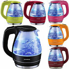 Glass Electric Kettle 1.5L Cordless Tea Coffee Pot Hot Water