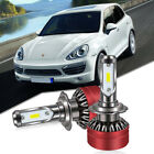 60W 6000LM 2-sides LED H7 Headlight 6000K Xenon White bulbs Pair w/Free Decoder