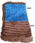 Pet Flys Luxurious Plush Pet Blanket Blue Western