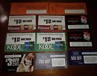 Cigarette coupons