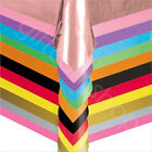 Plastic Disposable Table Covers Cloth Party Tableware Birthday Wedding 9x4.5 ft