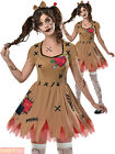 Ladies Voodoo Doll Broken Zombie Doll Costume Halloween Fancy Dress Women Outfit