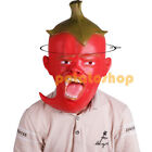 Zombie Head Mask Halloween Costumes Theater Cosplay Full Face Scary Red Pepper