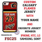 Calgary Flames Personalized Hockey Jersey Phone Case Cover for iPhone etc.